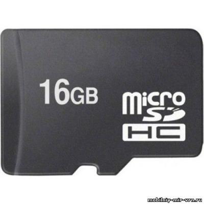 Флеш накопитель Micro SD + адаптер SD 16 GB
