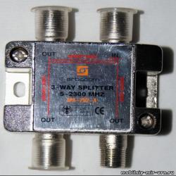 Делитель спутникового и ТВ сигнала.
